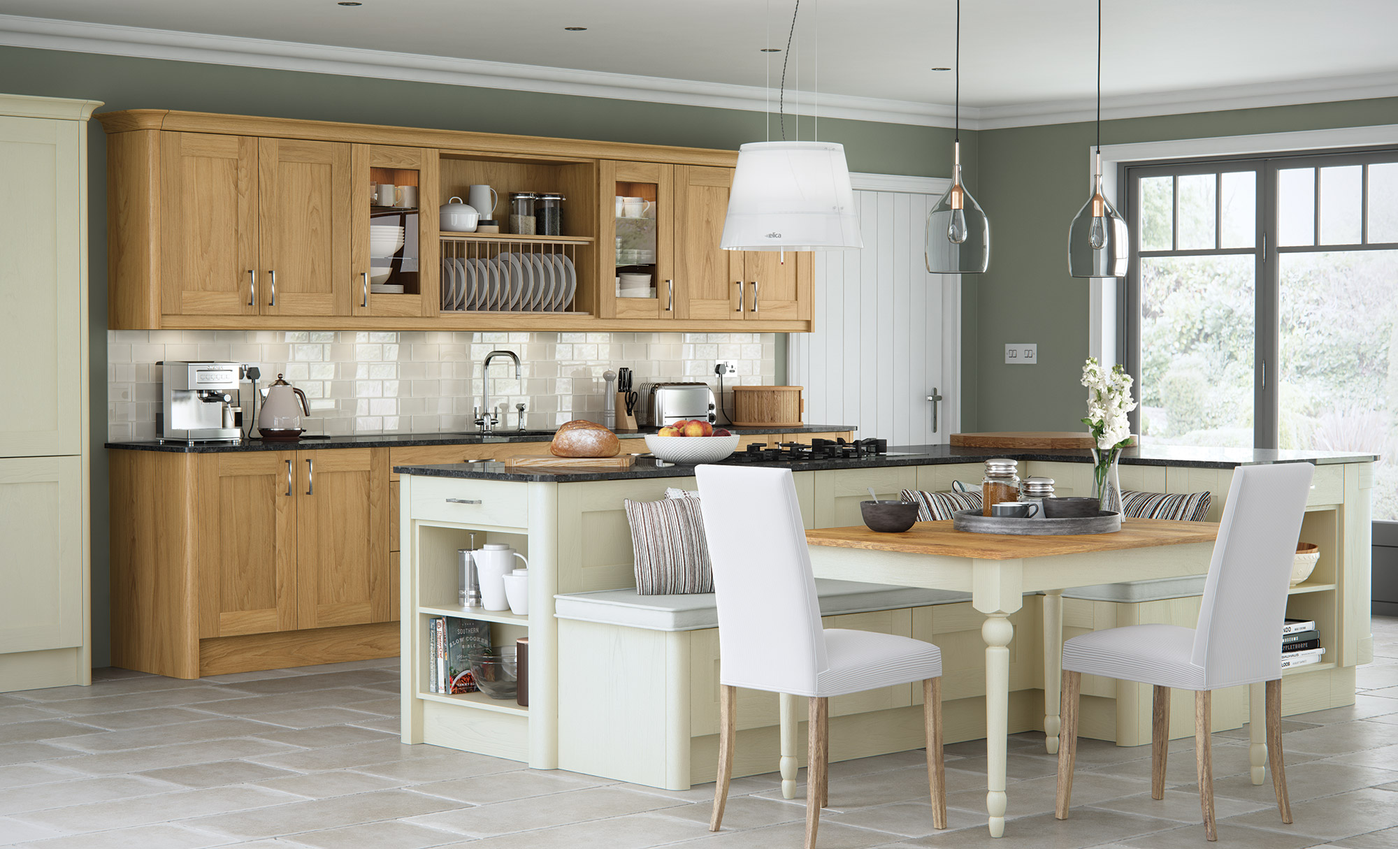 Contemporary Modern Classic Madison Oak Painted Ivory Kitchen Hero A Direct Wholesale Kitchens